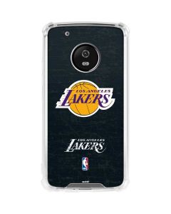 Los Angeles Lakers Black Primary Logo Moto G5 Plus Clear Case