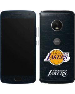 Los Angeles Lakers Black Primary Logo Moto G5 Plus Skin