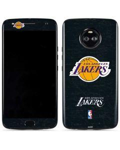 Los Angeles Lakers Black Primary Logo Moto X4 Skin