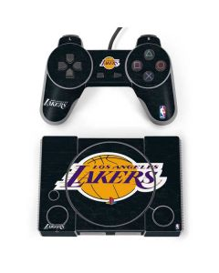 Los Angeles Lakers Black Primary Logo PlayStation Classic Bundle Skin