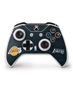 Los Angeles Lakers Black Primary Logo Xbox One S Controller Skin