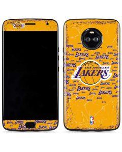 Los Angeles Lakers Blast Moto X4 Skin