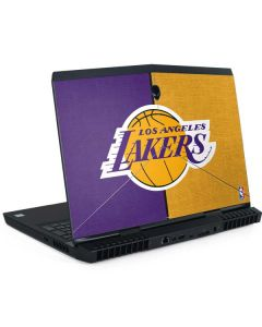 Los Angeles Lakers Canvas Dell Alienware Skin