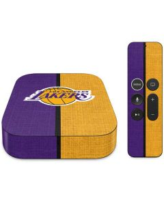 Los Angeles Lakers Canvas Apple TV Skin