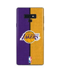 Los Angeles Lakers Canvas Galaxy Note 9 Skin