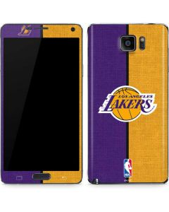 Los Angeles Lakers Canvas Galaxy Note5 Skin