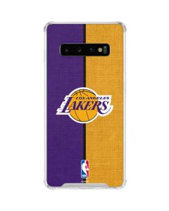 Los Angeles Lakers Canvas Galaxy S10 Clear Case