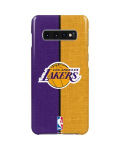 Los Angeles Lakers Canvas Galaxy S10 Plus Lite Case