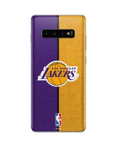 Los Angeles Lakers Canvas Galaxy S10 Plus Skin