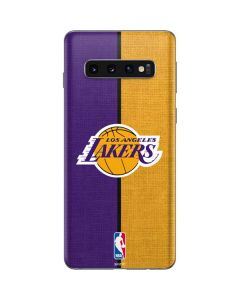 Los Angeles Lakers Canvas Galaxy S10 Skin