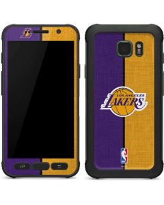Los Angeles Lakers Canvas Galaxy S7 Active Skin
