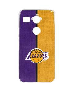 Los Angeles Lakers Canvas Google Nexus 5X Clear Case