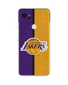Los Angeles Lakers Canvas Google Pixel 2 XL Skin