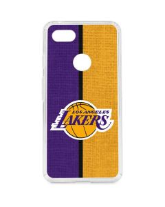 Los Angeles Lakers Canvas Google Pixel 3 XL Clear Case