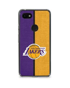 Los Angeles Lakers Canvas Google Pixel 3a Clear Case