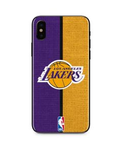 Los Angeles Lakers Canvas iPhone X Skin
