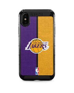 Los Angeles Lakers Canvas iPhone XS Cargo Case