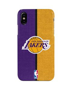 Los Angeles Lakers Canvas iPhone XS Lite Case