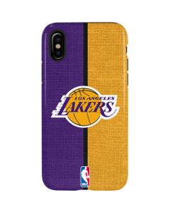 Los Angeles Lakers Canvas iPhone XS Max Pro Case