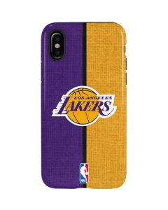 Los Angeles Lakers Canvas iPhone XS Pro Case