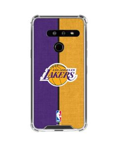 Los Angeles Lakers Canvas LG G8 ThinQ Clear Case