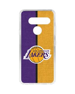 Los Angeles Lakers Canvas LG V40 ThinQ Clear Case