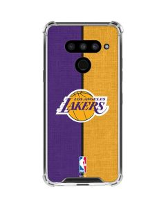 Los Angeles Lakers Canvas LG V50 ThinQ Clear Case
