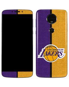 Los Angeles Lakers Canvas Moto E5 Plus Skin