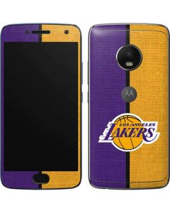 Los Angeles Lakers Canvas Moto G5 Plus Skin