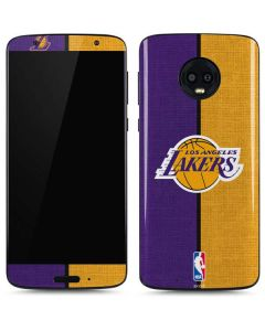 Los Angeles Lakers Canvas Moto G6 Skin