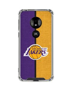 Los Angeles Lakers Canvas Moto G7 Play Clear Case