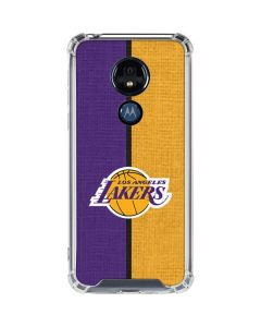 Los Angeles Lakers Canvas Moto G7 Power Clear Case