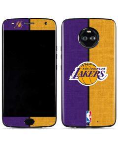 Los Angeles Lakers Canvas Moto X4 Skin