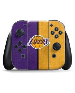 Los Angeles Lakers Canvas Nintendo Switch Joy Con Controller Skin