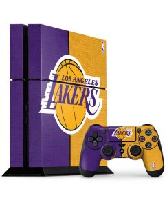 Los Angeles Lakers Canvas PS4 Console and Controller Bundle Skin