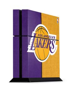 Los Angeles Lakers Canvas PS4 Console Skin
