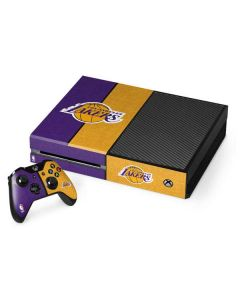 Los Angeles Lakers Canvas Xbox One Console and Controller Bundle Skin