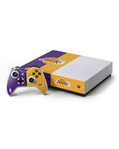 Los Angeles Lakers Canvas Xbox One S Console and Controller Bundle Skin