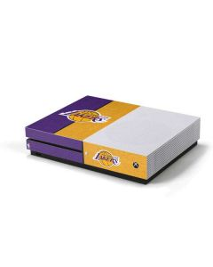 Los Angeles Lakers Canvas Xbox One S Console Skin