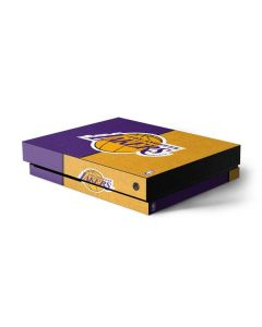 Los Angeles Lakers Canvas Xbox One X Console Skin