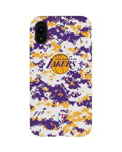 Los Angeles Lakers Digi Camo iPhone XR Pro Case