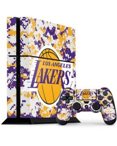 Los Angeles Lakers Digi Camo PS4 Console and Controller Bundle Skin