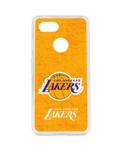 Los Angeles Lakers Gold Primary Logo Google Pixel 3 Clear Case