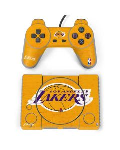 Los Angeles Lakers Gold Primary Logo PlayStation Classic Bundle Skin