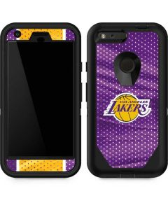 Los Angeles Lakers Home Jersey Otterbox Defender Pixel Skin
