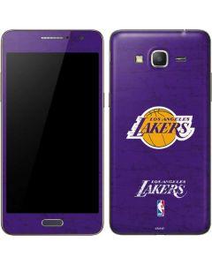 Los Angeles Lakers Purple Primary Logo Galaxy Grand Prime Skin
