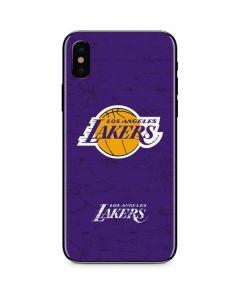 Los Angeles Lakers Purple Primary Logo iPhone X Skin