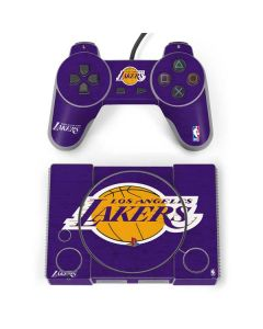 Los Angeles Lakers Purple Primary Logo PlayStation Classic Bundle Skin