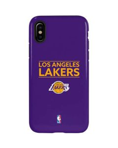 Los Angeles Lakers Standard - Purple iPhone XS Max Pro Case