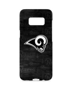 Los Angeles Rams Black & White Galaxy S8 Plus Lite Case